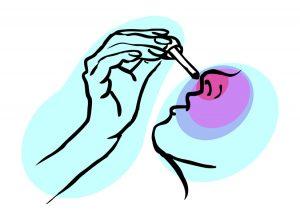 Medical icon, Cold, nose drops, ill